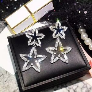 Big Star Rhinestone Party Earrings
